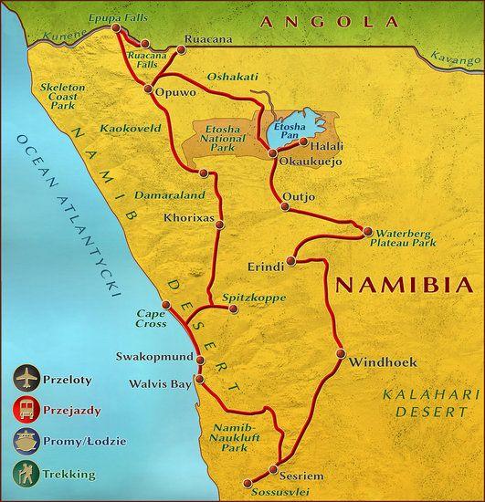 Namibia w swojej najpiękniejszej odsłonie. Plemiona: Buszmeni, Himba, Herero, Damara, wodospady Epupa i Ruacana, pustynie Namib i Kalahari, safari w Etoshy i w Erindi Game Reserve - w sercu afrykańskiego buszu...  z Wyprawę poprowadzi Anna Olej-Kobus. To znakomity pilot z charyzmą, znana podróżniczka, fotograf i dziennikarka. Ania jest autorką jedynej książki o Namibii wydanej w języku polskim