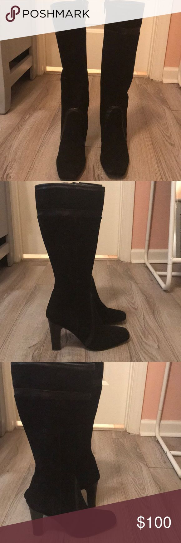 Beautiful suede Charles David boots These are wonderful boots I could never wear them because my calf is too big. Charles David Shoes Winter & Rain Boots