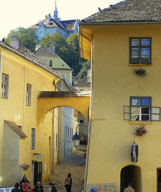 """Vlad III Dracula's House in Sighisoara Transylvania. """"Uncle Vlad's house"""" :) He might be my ancestor."""
