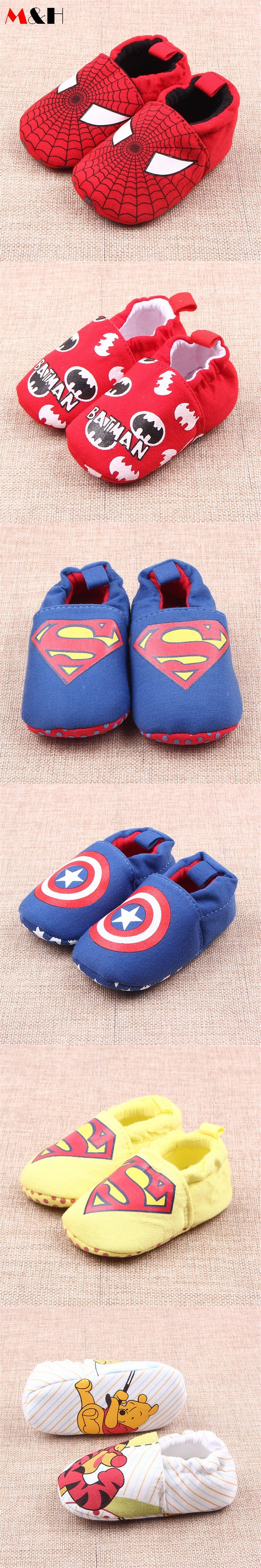 2016 Spiderman Baby Shoes Red Soft Bottom Shoes Baby First Walkers Newborn Brand Infant Boy Shoes Toddler Girls Sapatos De Bebe