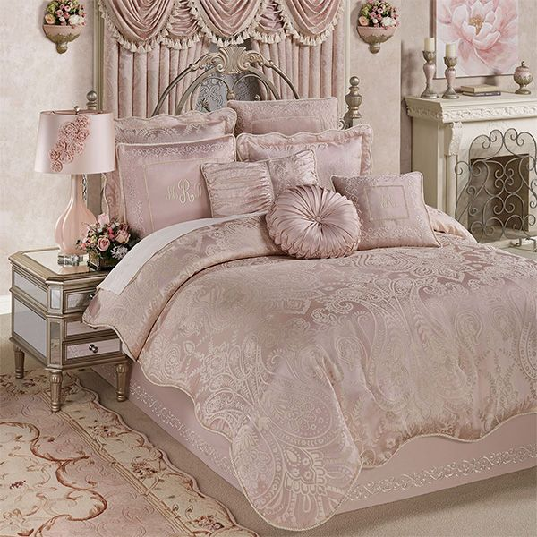 Princess Scrollwork Blush Comforter Set Bedding In 2020 Comforter Sets Princess Comforter Bedding Sets