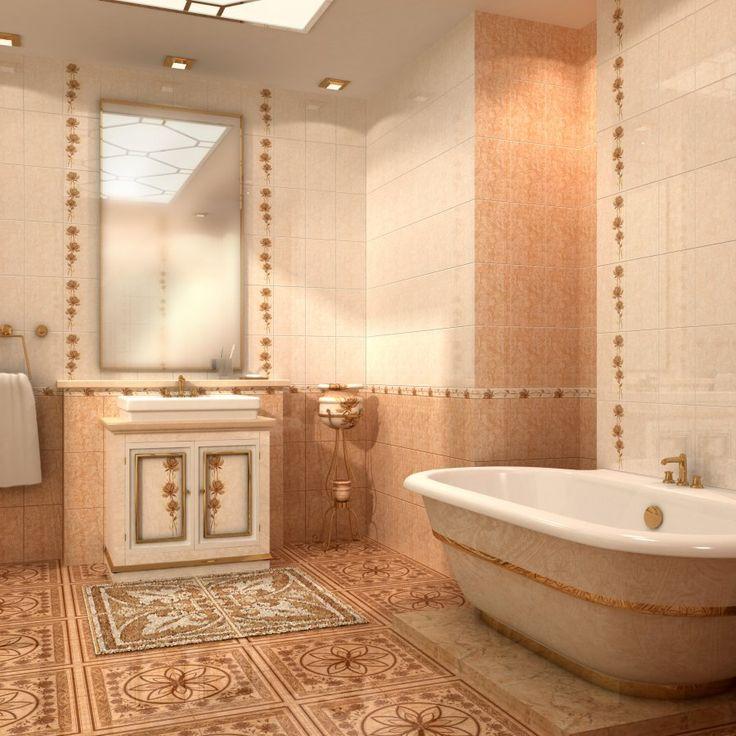 Организуем интересный пол в ванной  На полу ванной комнаты можно выложить из мозаичной коврик. Представьте, как удобно иметь ковёр, который не нужно стирать. Этот декоративный элемент можно сделать из одной лишь мозаики или использовать для его центральной части галечную плитку, дающую возможность терапевтического массажа ступней. #сантехника #плитка #ремонт #санузел http://santehnika-tut.ru/mozaika/