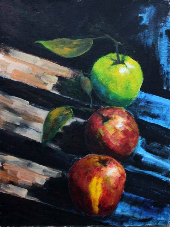 Apple canvas  40x30 cm
