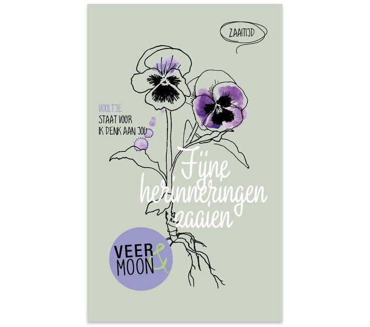 Bloemzaadjes van Veer&Moon - Fijne herinneringen zaaien. www.Millows.nl