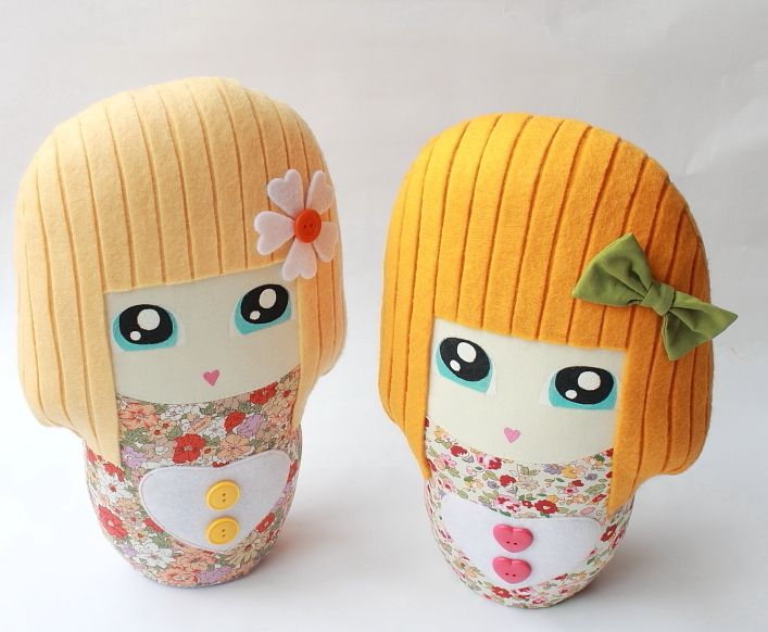 Cutey handpainted dollies