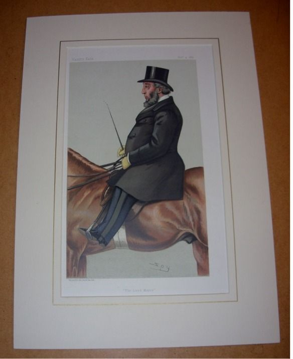"""ORIGINAL LITHOGRAPH by SPY: SIR JOHN WHITAKER ELLIS BART. LORD MAYOR OF LONDON. """"The Lord Mayor"""". 4/11/1882. (Politicians) - VANITY FAIR: A Weekly Show:"""