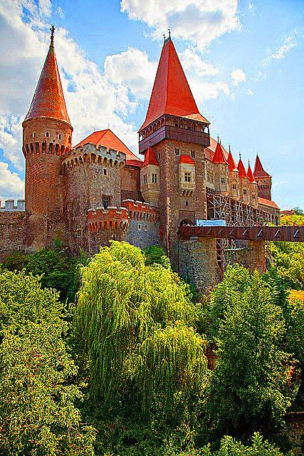 Hunyad Castle. Gothic-style castle in Romania.