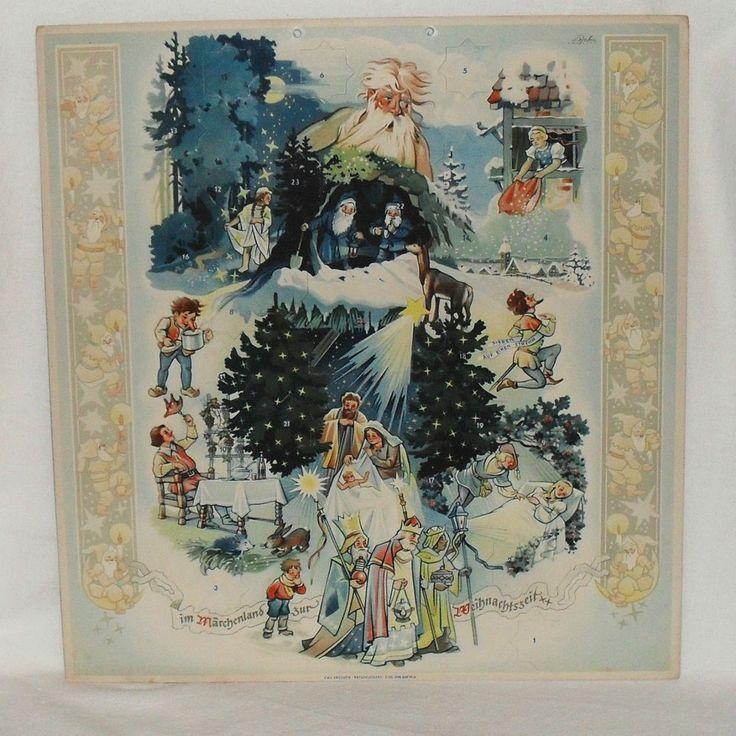 307 best alte adventskalender images on pinterest advent calendar christmas cards and xmas. Black Bedroom Furniture Sets. Home Design Ideas