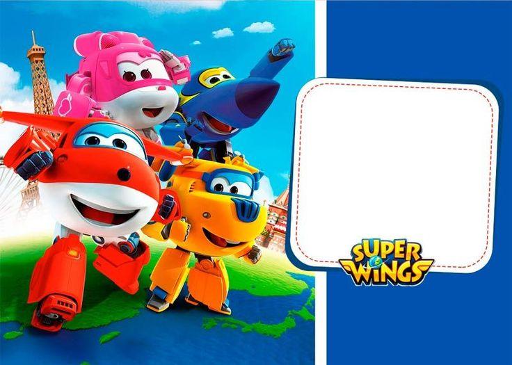 Baixe agora o Kit Festa Super Wings com vários moldes para você personalizar e fazer uma linda festa com o tema, grátis e com instruções de como imprimir