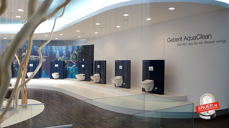 www.aroma.ch  Trade Exhibition for Geberit AquaClean