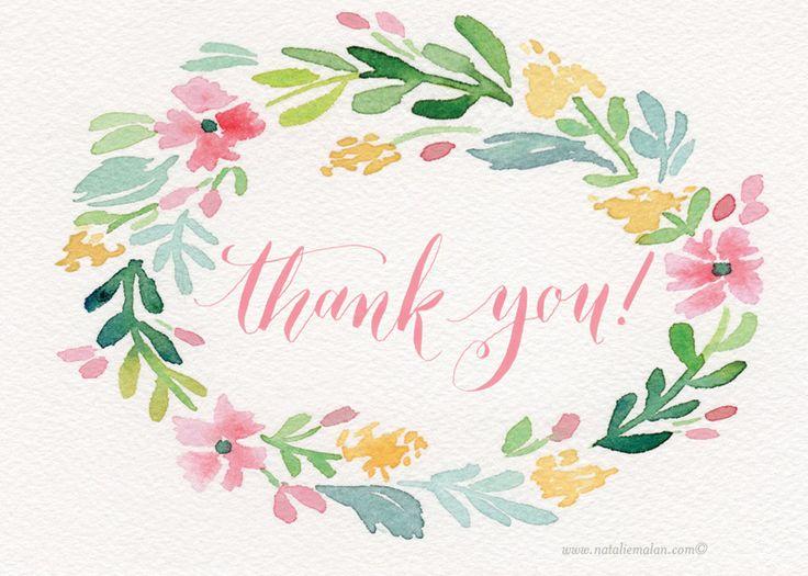 Free thank you cards to print printable.