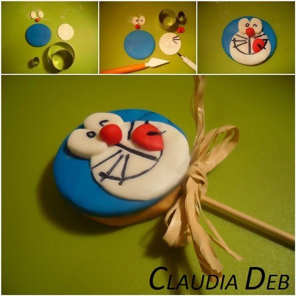 Doraemon cookie pops tutorial