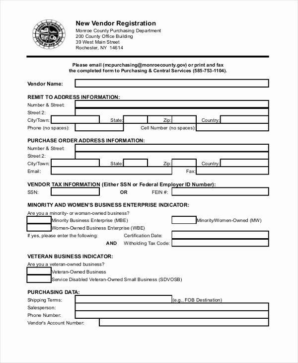 Vendor Application Form Template Inspirational 8 Sample Vendor Application Forms Sample Example Format Excel Templates Templates Application Form