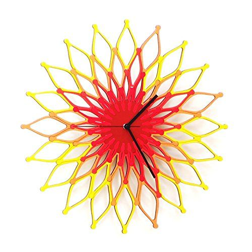 Unique large wall clocks are an easy way to bring life to a boring space. In fact large modern wall clocks areextremely popularright now as not only do theylook timelessbut also serve as large decorative wall art!    Fireworks I - Large Stylish Wooden Wall Clock, a Sunburst Clock