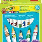 Crayola Mini Kids – Loisir Créatif – 8 Maxi Crayons De Couleur: Crayons de gros diamètre Mine solide et couleurs vives Faciles à attraper…