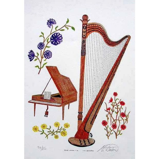 Harp & piano with psalms Chapters 1-30