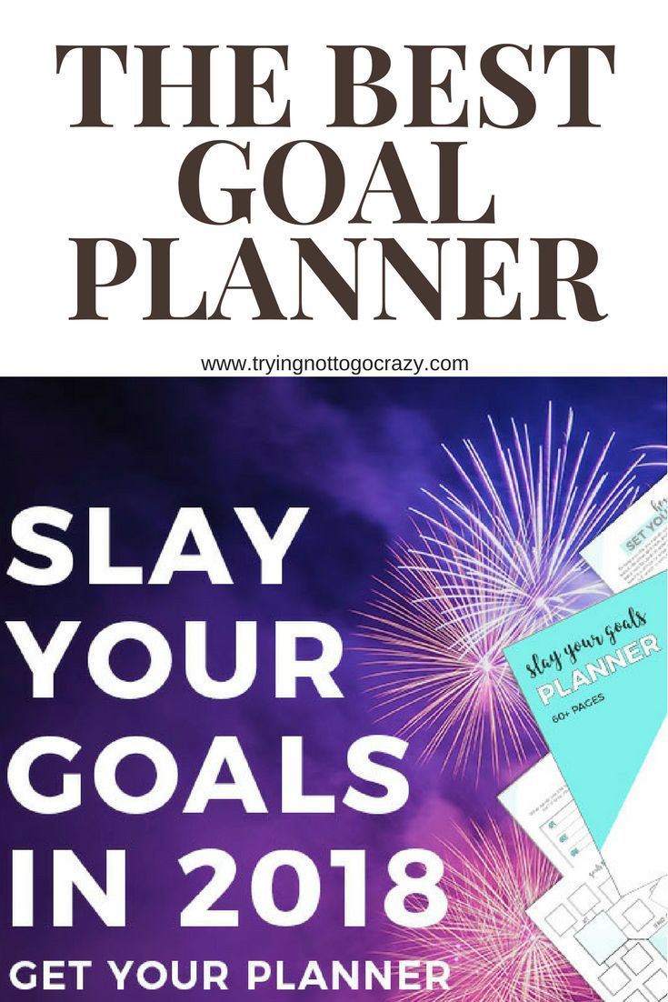 Are you ready to slay your goals in 2018! Get this planner to make sure you're on track! #Affiliate