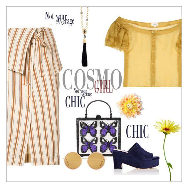 """Cosmo chic"" by frenchfriesblackmg ❤ liked on Polyvore featuring Isa Arfen, Oscar de la Renta, Rosie Assoulin, Nancy Gonzalez, Loeffler Randall and Acne Studios"