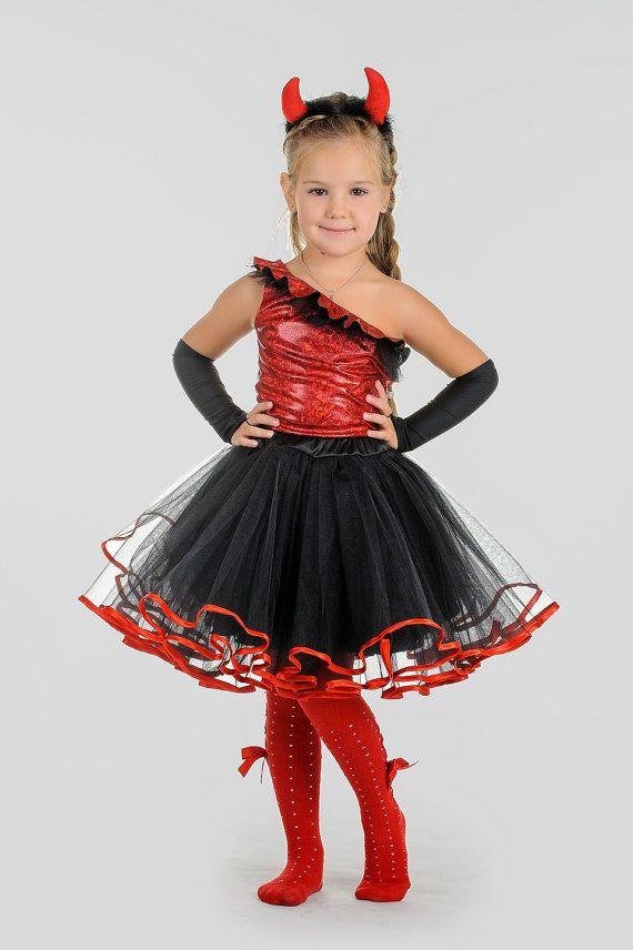 niñas traje de diablo muchacha de tutu de la por SoCharmingCraft