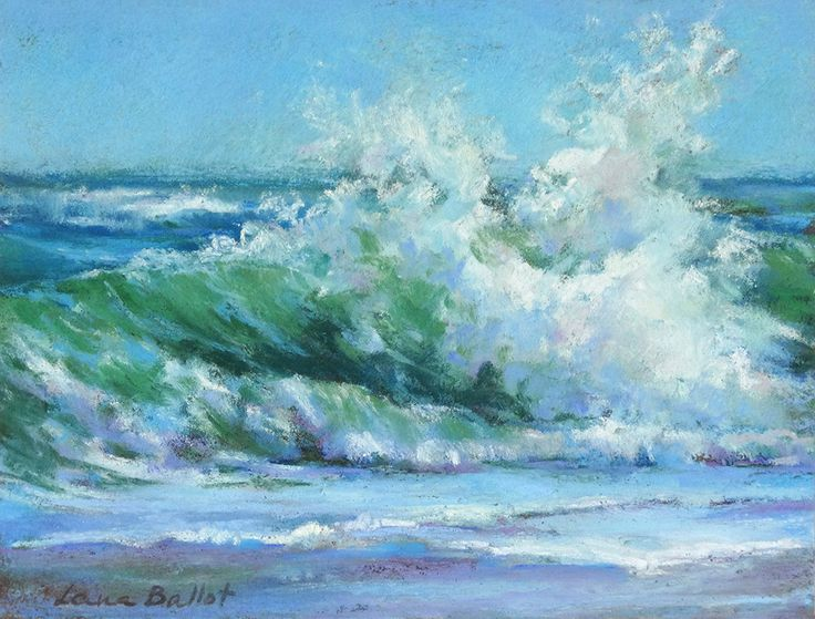 Wave painting, Pastel seascape, Original art unframed, Coastal art, Impressionism art, Pastel wave, Ocean painting, Beach decor, Big wave di ColorSplashHomeDecor su Etsy