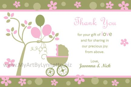 thank you wording baby shower gifts