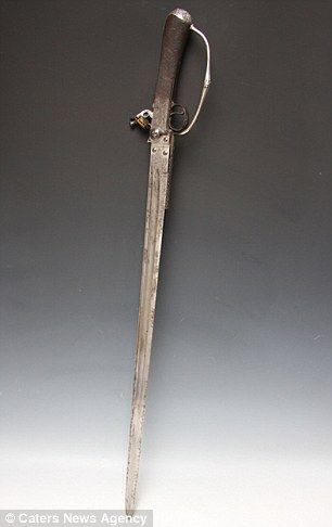 'Truly exceptional': This sword-pistol, which is believed to have been used by Lord Nelson at the Battle of Trafalgar.