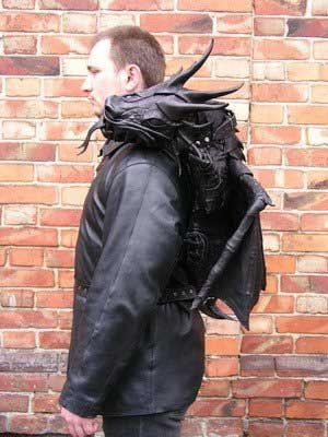 Dragon backpack created by Bob Basset.