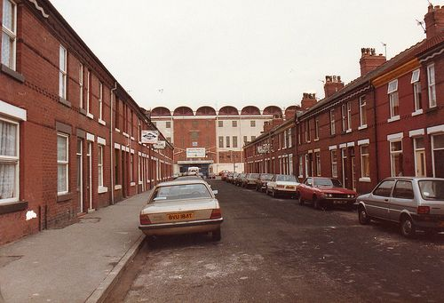 Moss Side, Manchester, outside Maine Road.