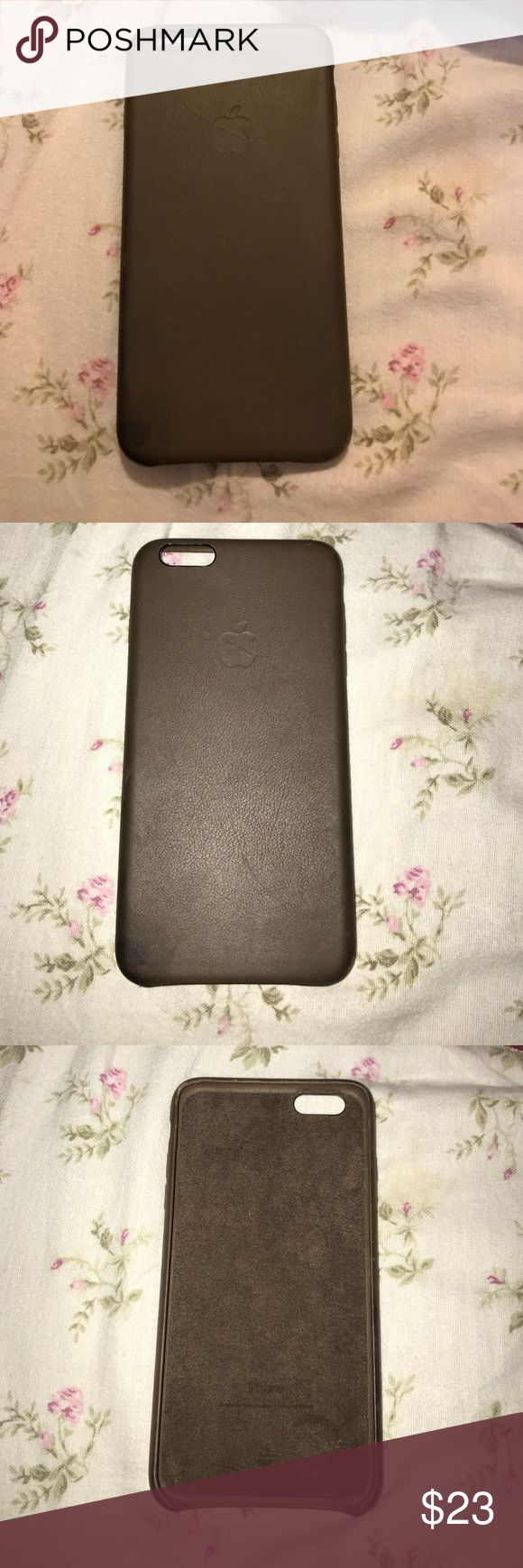 IPhone plus 6/6s leather case Hardly used IPhone 6/6s case bought it with IPhone at the Apple Store. It was $53 with taxes so real leather! apple Accessories Phone Cases