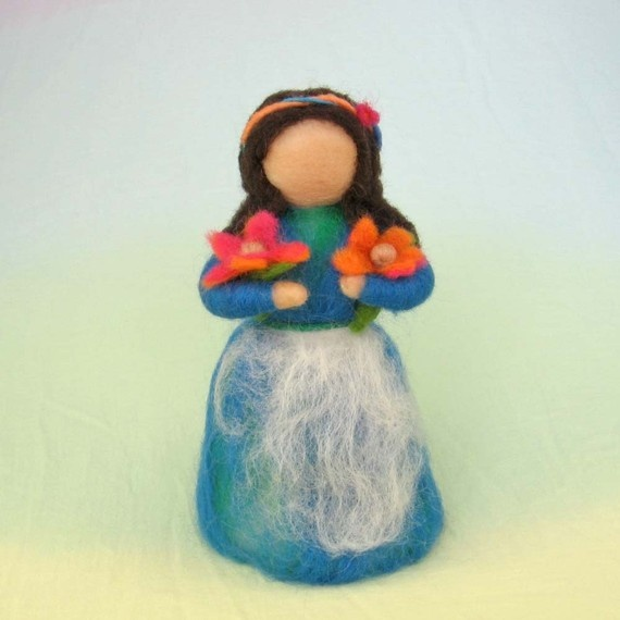 Mother Earth & Flower Children Needle Felted Wool Doll
