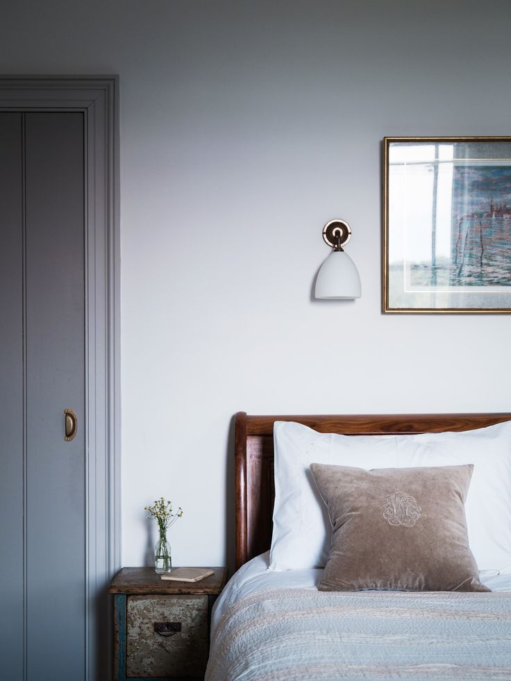 Bedroom In Blue Dorset House By Mark Lewis Photo Rory Gardiner