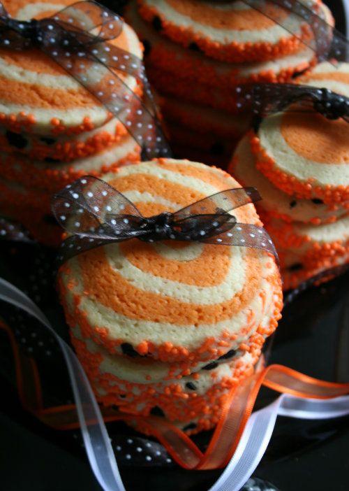 Sugar Cookies  - Pinwheel Halloween Sugar Cookies