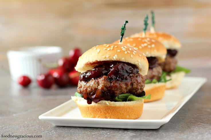 Lamb sliders with cherry balsamic relish  Perfect mini size lamb sliders