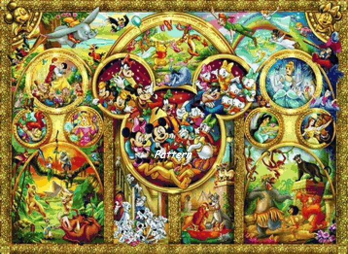 Disney Heroes 11 Counted Cross Stitch Pattern Paper Version or PDF Files | eBay