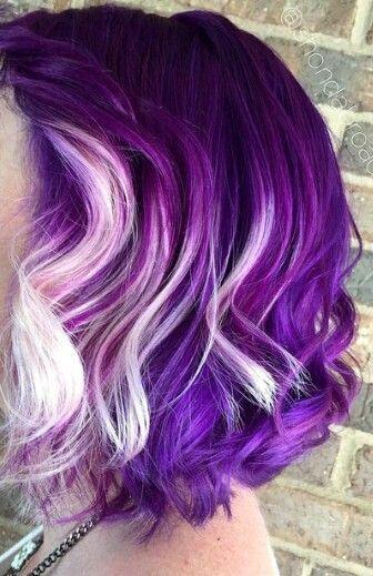 purple n platinum hair