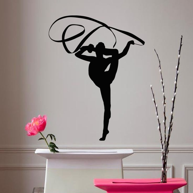 Wall Decals Girl Gymnast With A Ribbon Sport Gymnastics People Home Vinyl Decal Wall Sticker Kids Nursery Baby Room Decor A148 #Affiliate