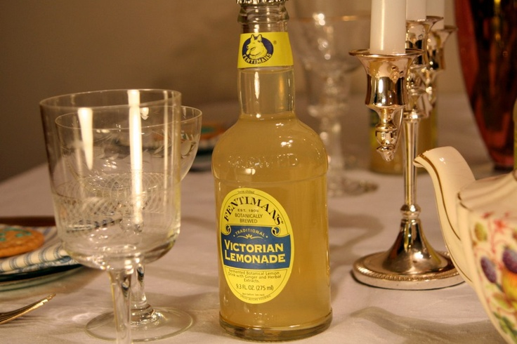"""""""Downton Abbey"""" Dessert Party: """"Victorian Lemonade, while not historically accurate, looks beautiful in these Fentiman bottles, and it serves as a delicious, booze-free refreshment."""""""