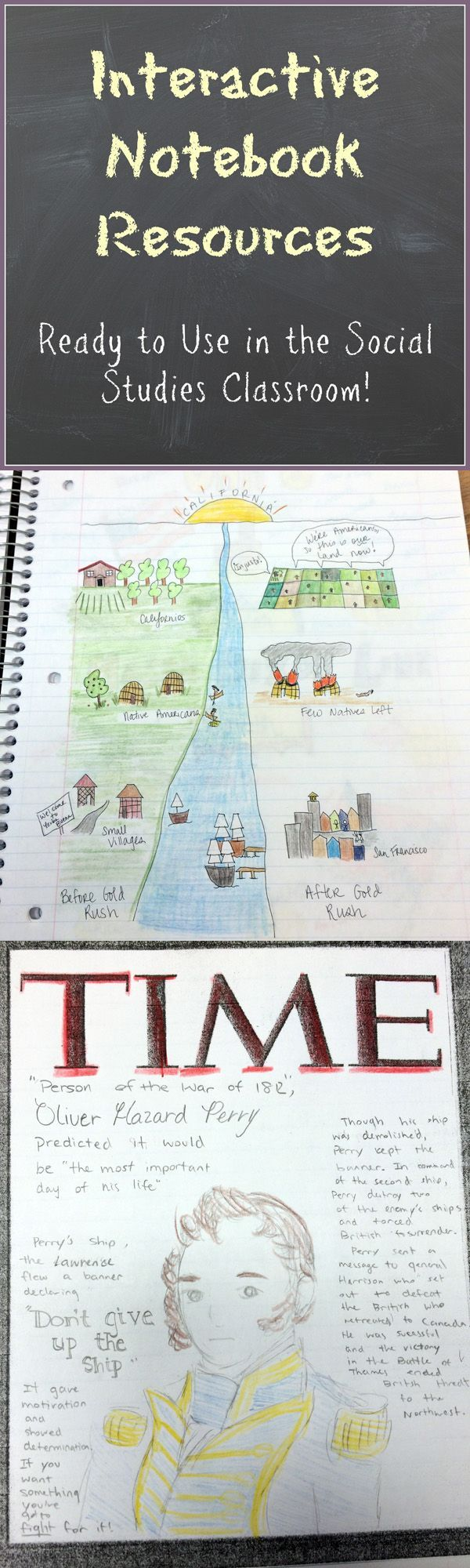 Interactive Notebook Resources ready to use in the middle school history/social studies middle classroom. There are so many benefits to using the interactive notebook at the middle school level. Comprehension and retention are increased, students learn key concepts in multiple ways, and creativity and higher-level thinking are incorporated on a daily basis.