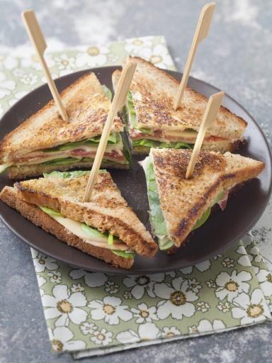 Club Sandwich Épinard-jambon-comté