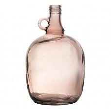 """ZWAARTAFELEN I Vaas bruin doorzichtig glas 17x27cm, """"jug 3 liter smoked brown"""" I #interieur #interior #vaas #scandinavisch I www.zwaartafelen.nl"""