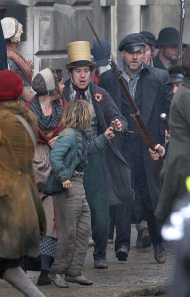 On the set of Les Mis