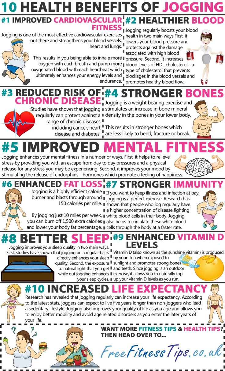 10 Health Benefits Of Jogging -  For great motivation, health and fitness tips, check us out at: www.betterbodyfitnessbootcamps.com Follow us on Facebook at: www.facebook.com/betterbodyfitnessbootcamps