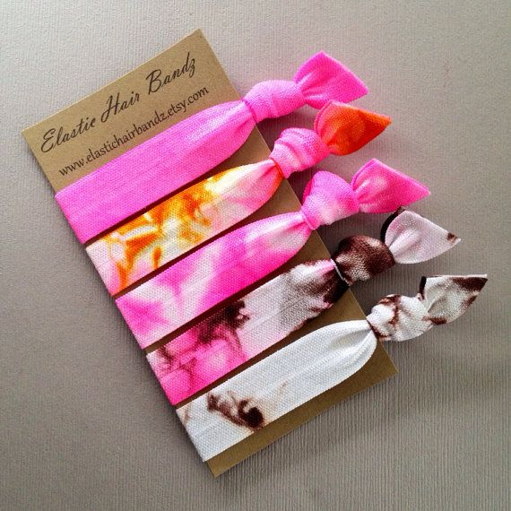 The Alexis Tie Dye Hair Tie Collection 5 by ElasticHairBandz, $5.25
