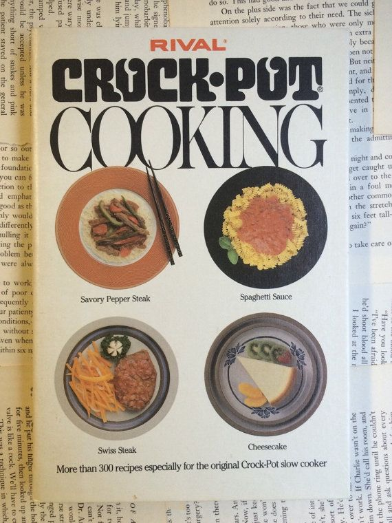 This spiral bound cookbook has more than 300 vintage recipes perfect for any crock-pot lover! Its in wonderful condition w/ only a