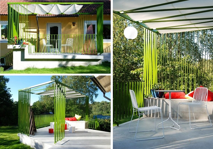 modern pergola with retractable shading roof deck. Black Bedroom Furniture Sets. Home Design Ideas