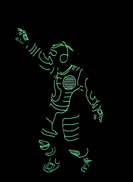This brief tutorial will walk you through how to make a light up costume using electroluminescent wire (el wire).