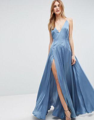 ASOS Cami Panelled Thigh Split Maxi Dress