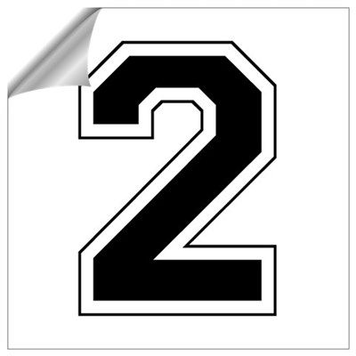Varsity Font Number 2 Crafty Blue Poster Numbers Fonts