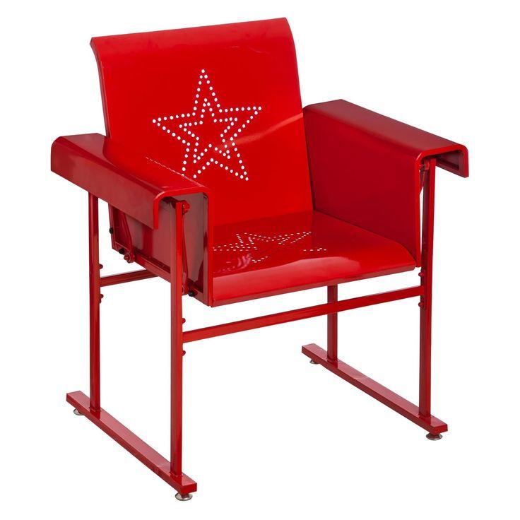 Cape Craftsman Retro Metal Vintage Outdoor Glider Chair - 4FC005