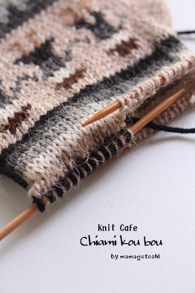 2本棒で輪編み!袋編みのマニアックなお話| ニットカフェ 千編工房 ...